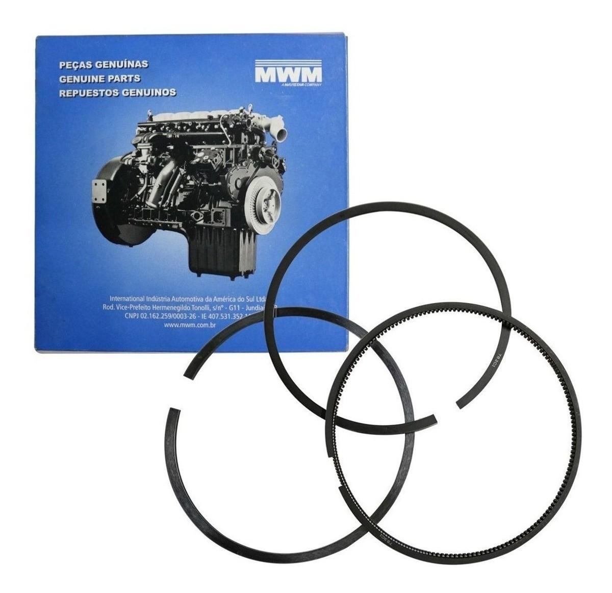 Anéis Pistão Std MWM X10 F1000 F4000 Cam VW Unid.