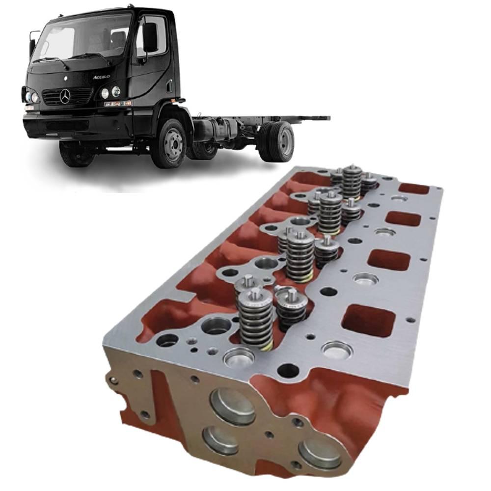 Cabeçote Motor MB Accelo 915 montado com válvulas