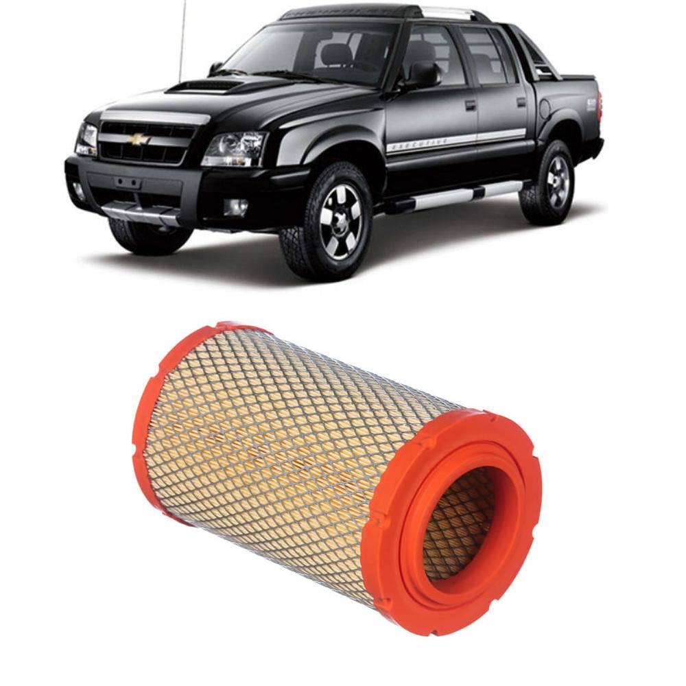Filtro Ar S10 e Blazer 2.4 8V 2000/2011 Gasolina/Flex