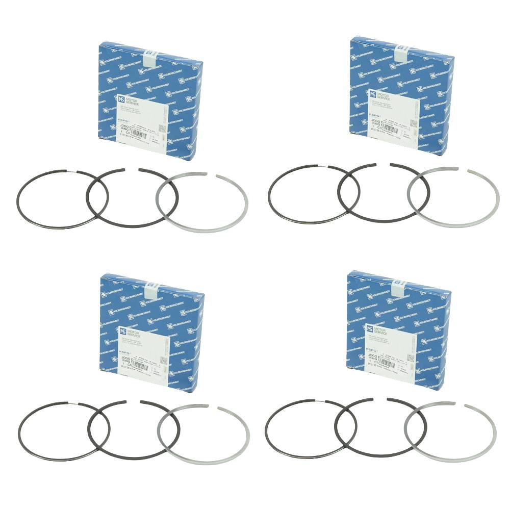 Jogo Anel de Segmento Pistão Doblo 1.8 8V Flex todos - STD