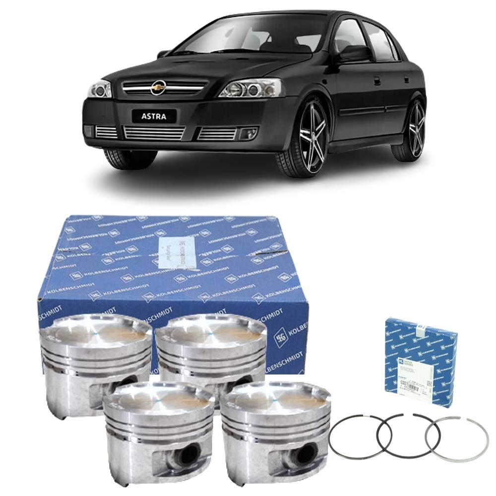 Kit 4 Pistão e Anéis Astra 2.0 8v Gasolina 2002 a 2004 0.50