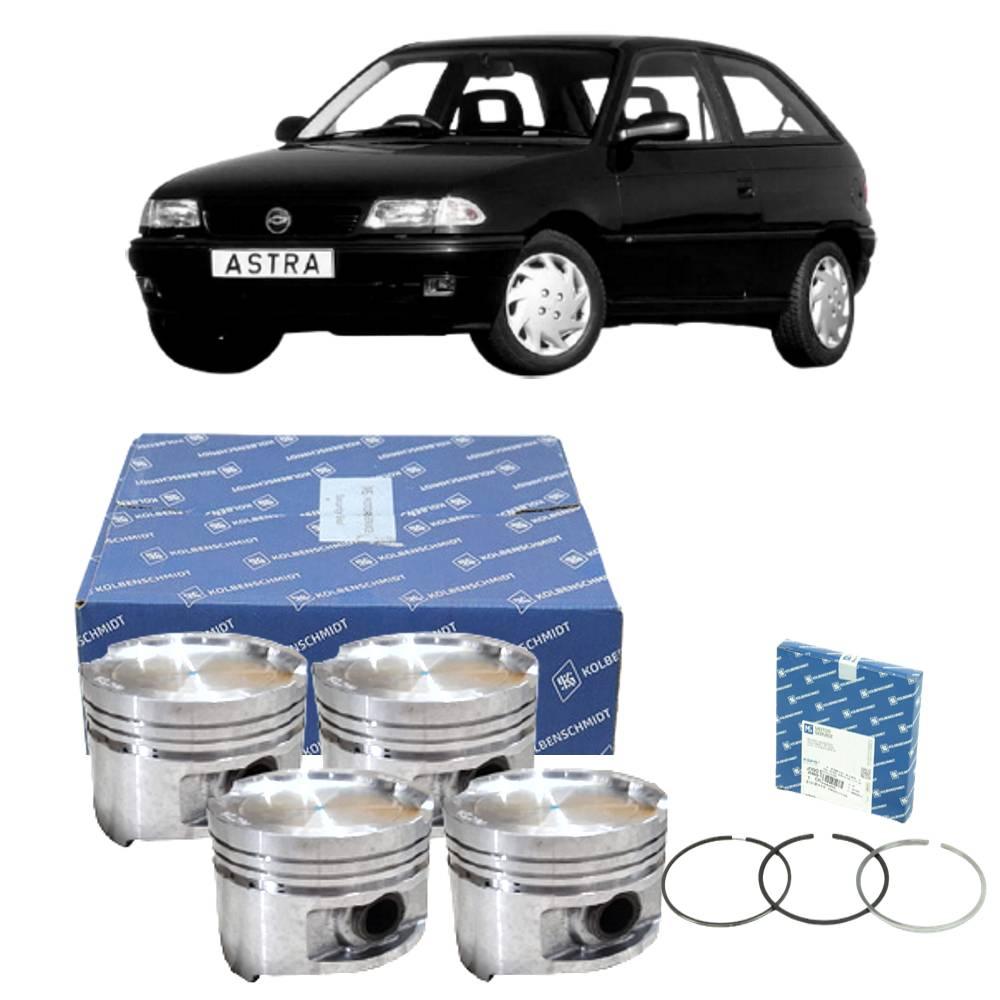 Kit 4 Pistão e Anéis Astra 2.0 Gasolina MPFI 94 a 96 - 0.50