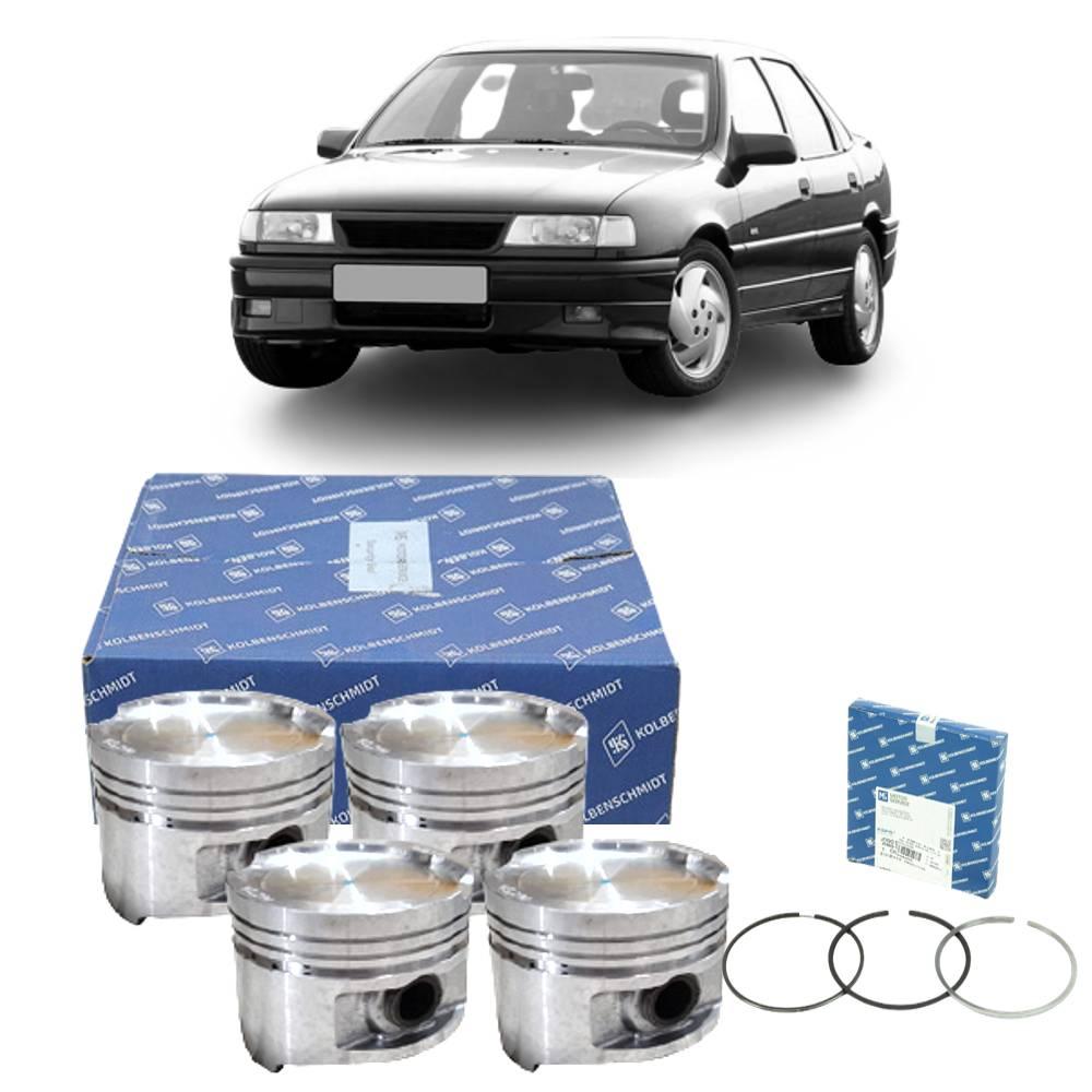 Kit 4 Pistão e Anéis Vectra 2.0 8V Gasolina 94 a 96 - 0.50
