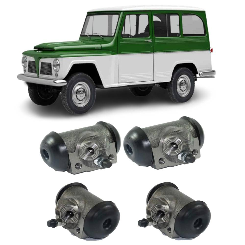 Kit Completo Cilindro Roda Dianteiro + Traseiro Willys Rural
