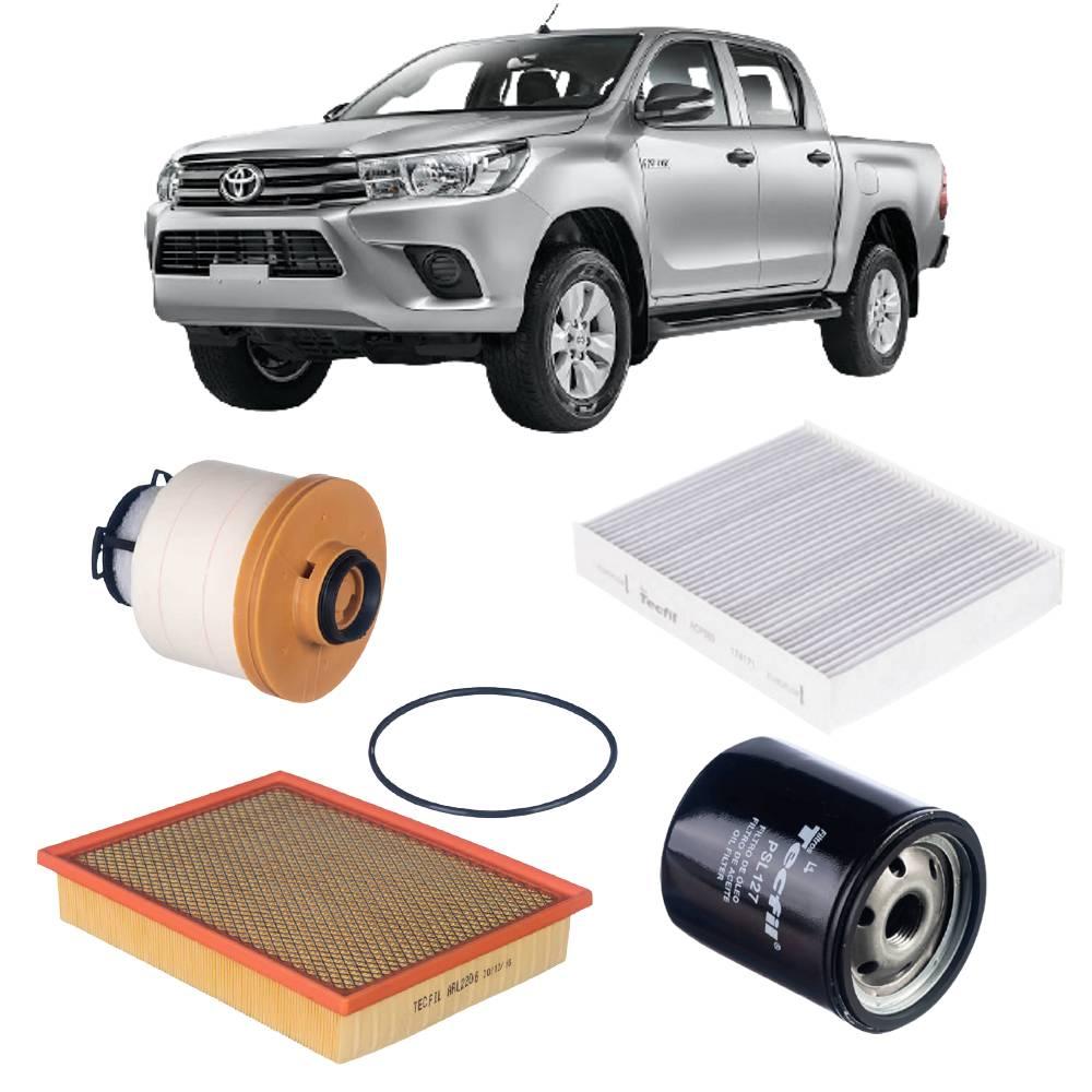Kit Completo de Filtros Toyota Hilux 2.8 16v 2016 em diante