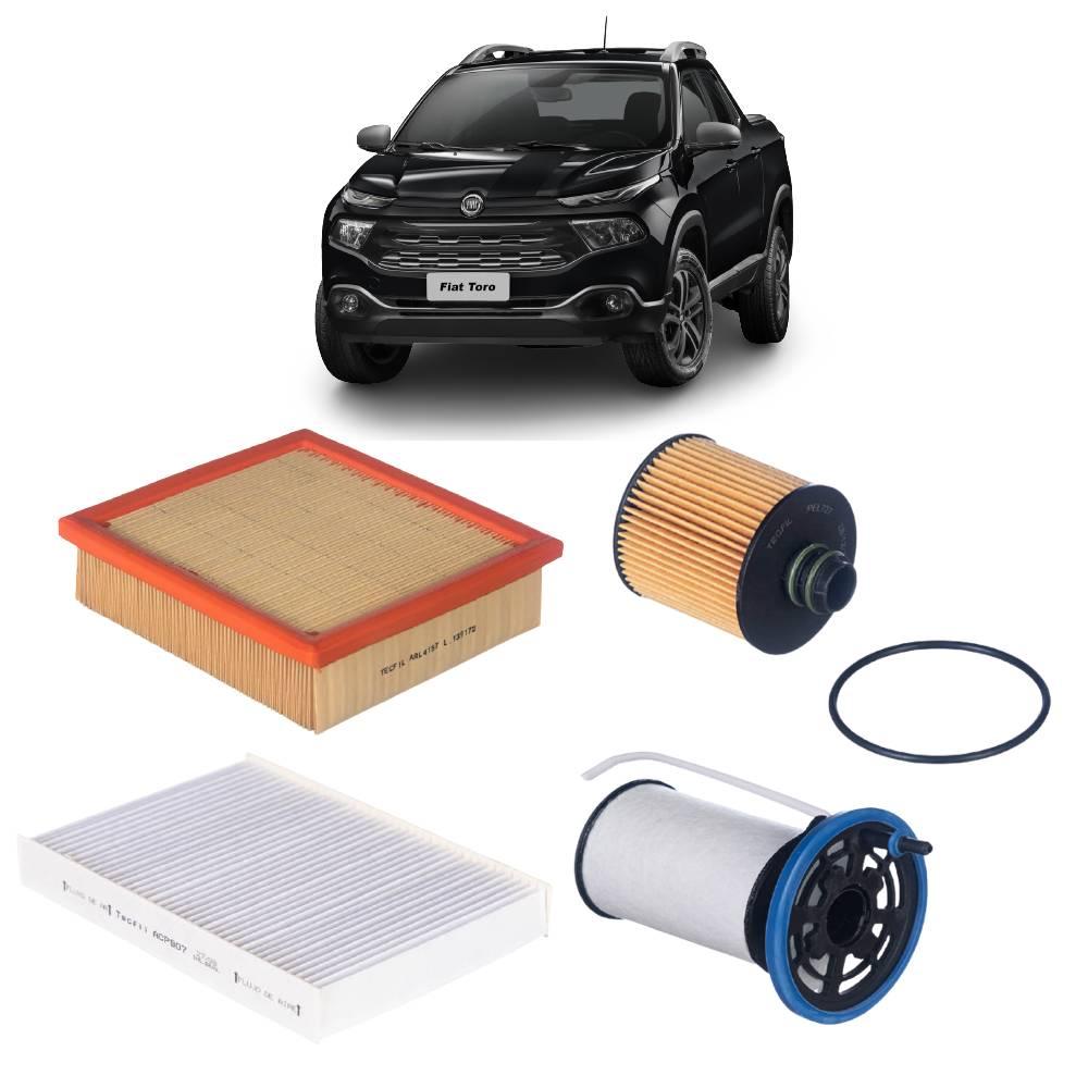Kit Completo Filtros Fiat Toro 2.0 16V Diesel 2016 em diante
