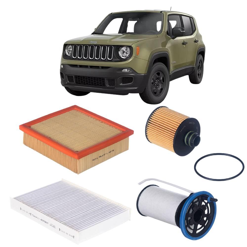 Kit Completo Filtros Jeep Renegade 2.0 16V Diesel 2016 em diante