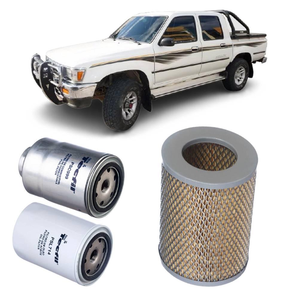 Kit Completo Filtros Toyota Hilux 2.8 8V 1992 a 2001