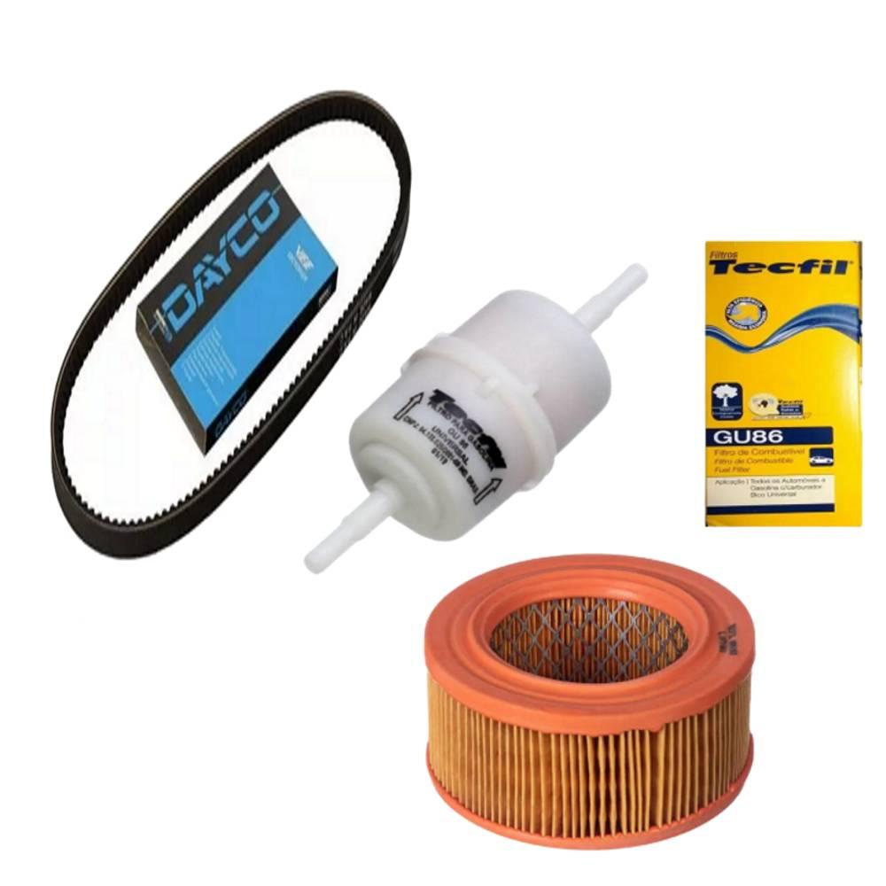 Kit Revisão Correia e filtros Fusca 1600 Carburador Simples