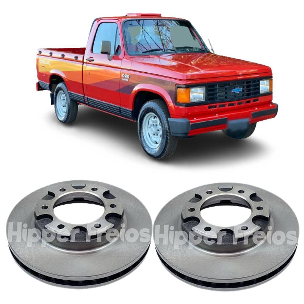 Par de Disco de Freio Dianteiro Chevrolet A20 C20 D20 Todos