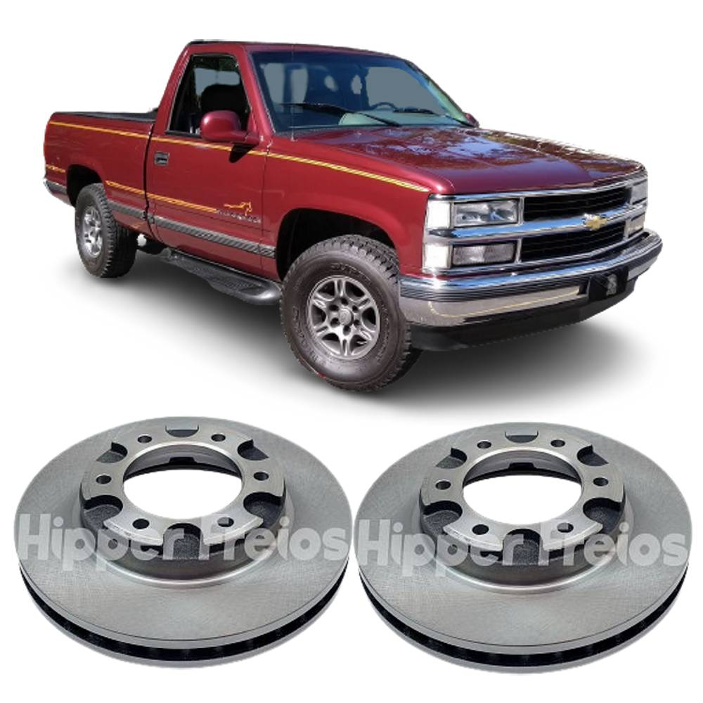 Par de Disco de Freio Dianteiro Chevrolet Silverado até 99