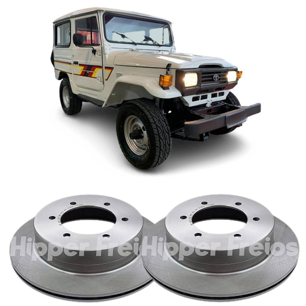 Par de Disco Freio Dianteiro Toyota Bandeirante 95 a 2001