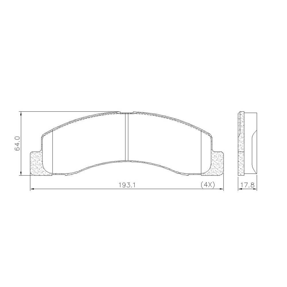 Pastilha Freio Dianteiro/Traseiro F250 1998 a 2012 4x2/4x4