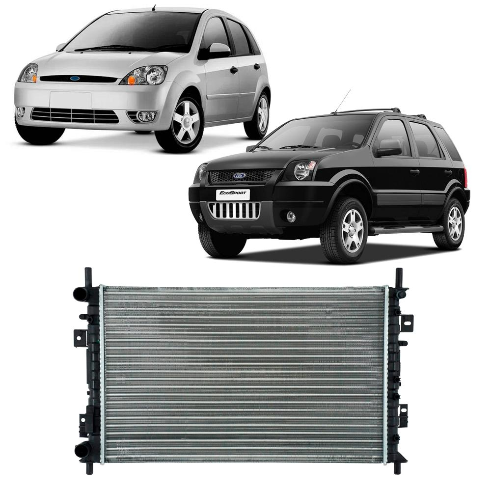 Radiador Fiesta e Ecosport 1.0/1.6 Zetec 2003/2010 com Ar