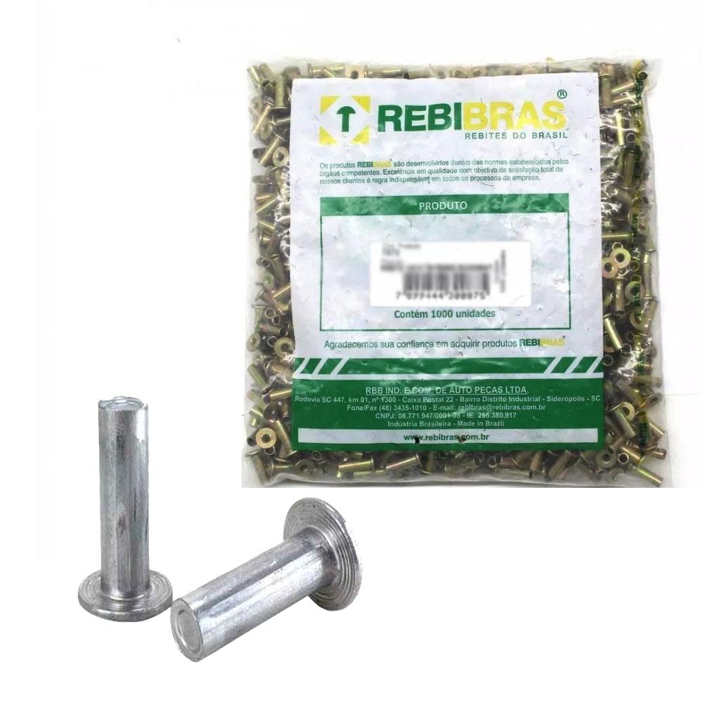 Rebite Lona Freio 13x16 Maciço Alumínio Rbb-6114 Milheiro