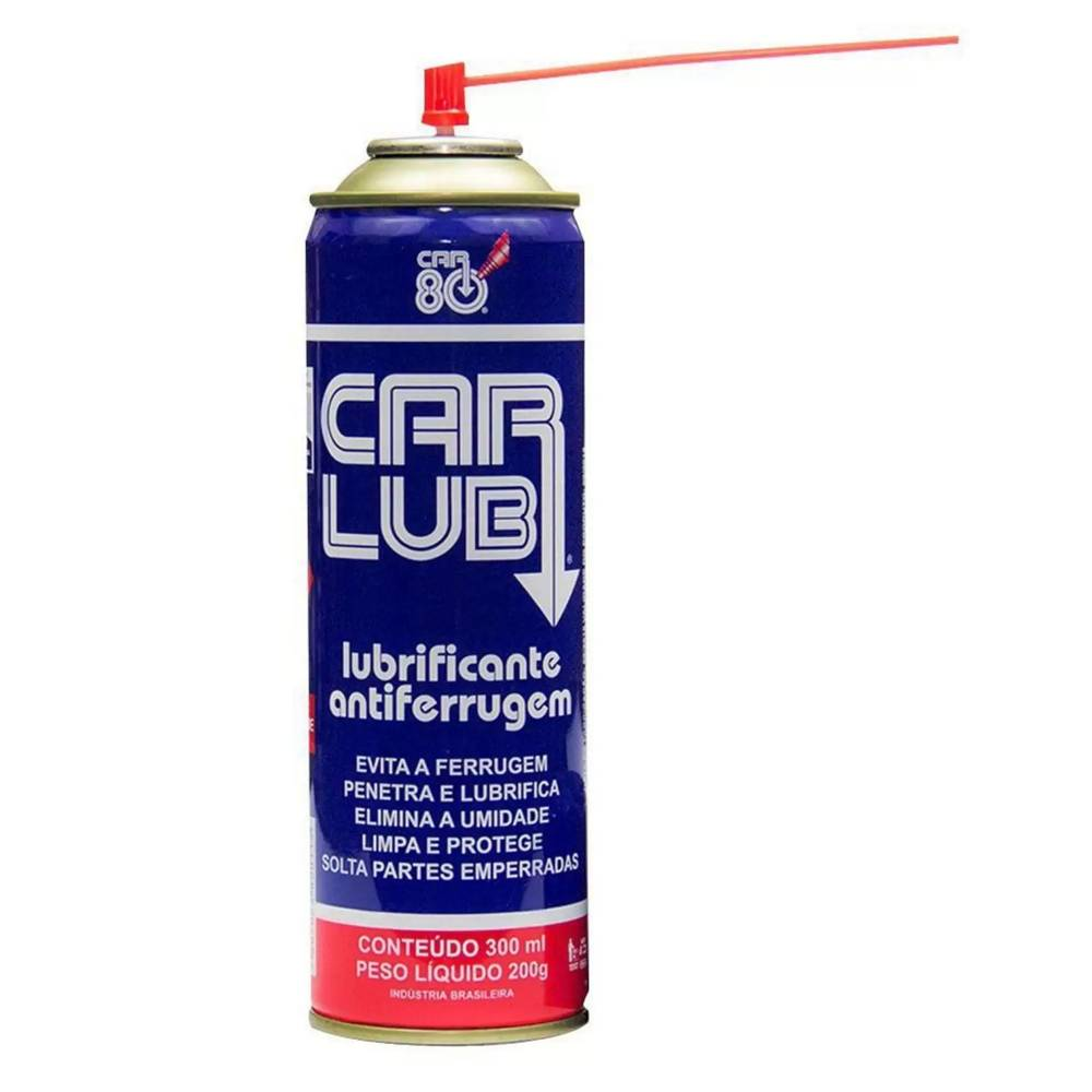 Spray Anti Ferrugem Desengripante Anticorrosivo CarLub 300ML