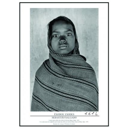 Pôster Coleção Êxodos Autografado Sebastião Salgado – Retrato de Crianças Nº 04
