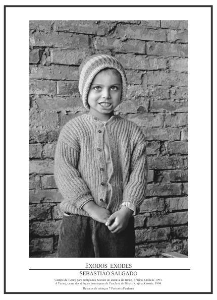 Pôster Coleção Êxodos Sebastião Salgado – Retrato de Crianças Nº 07