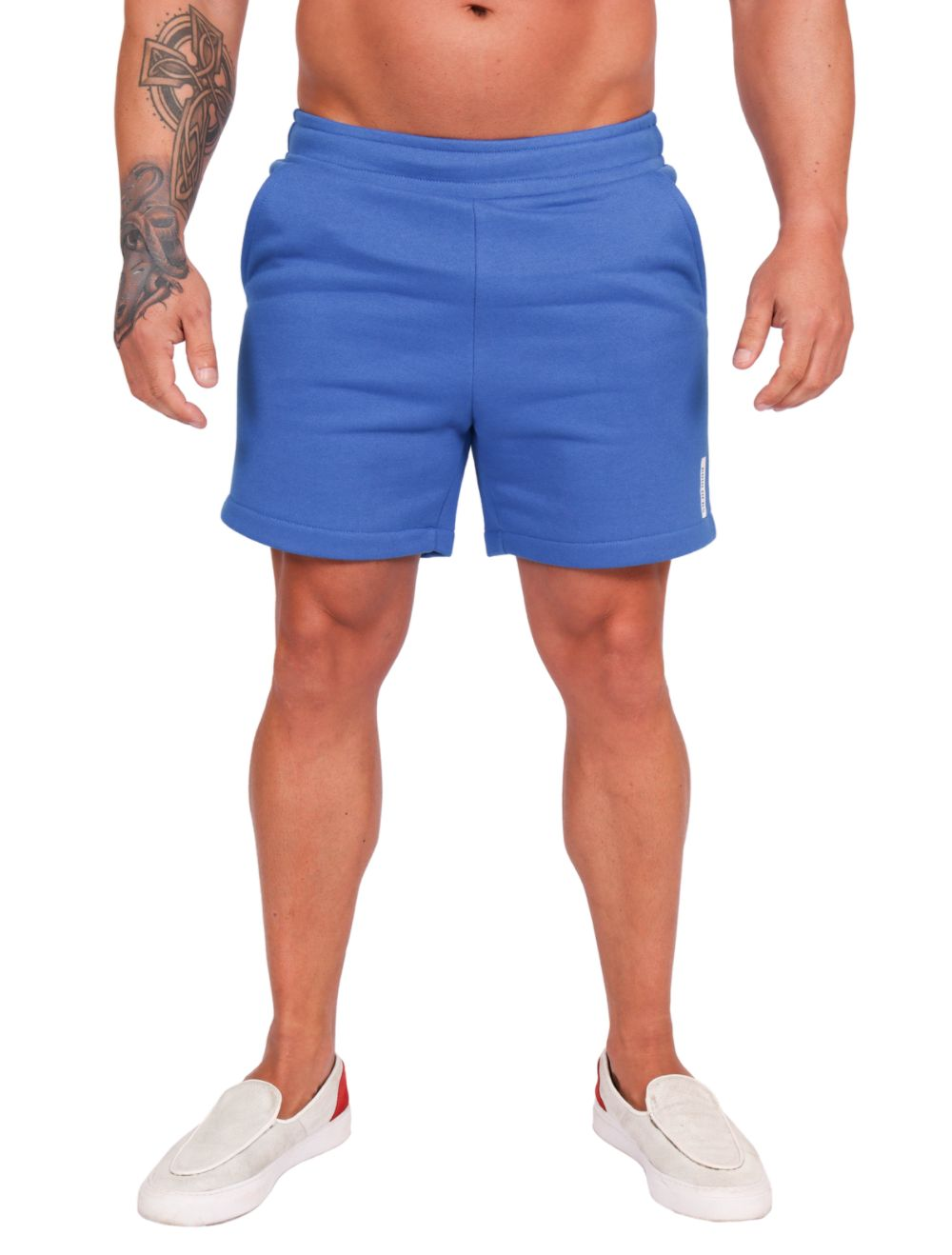 Bermuda Masculina em Moletom Azul Bic