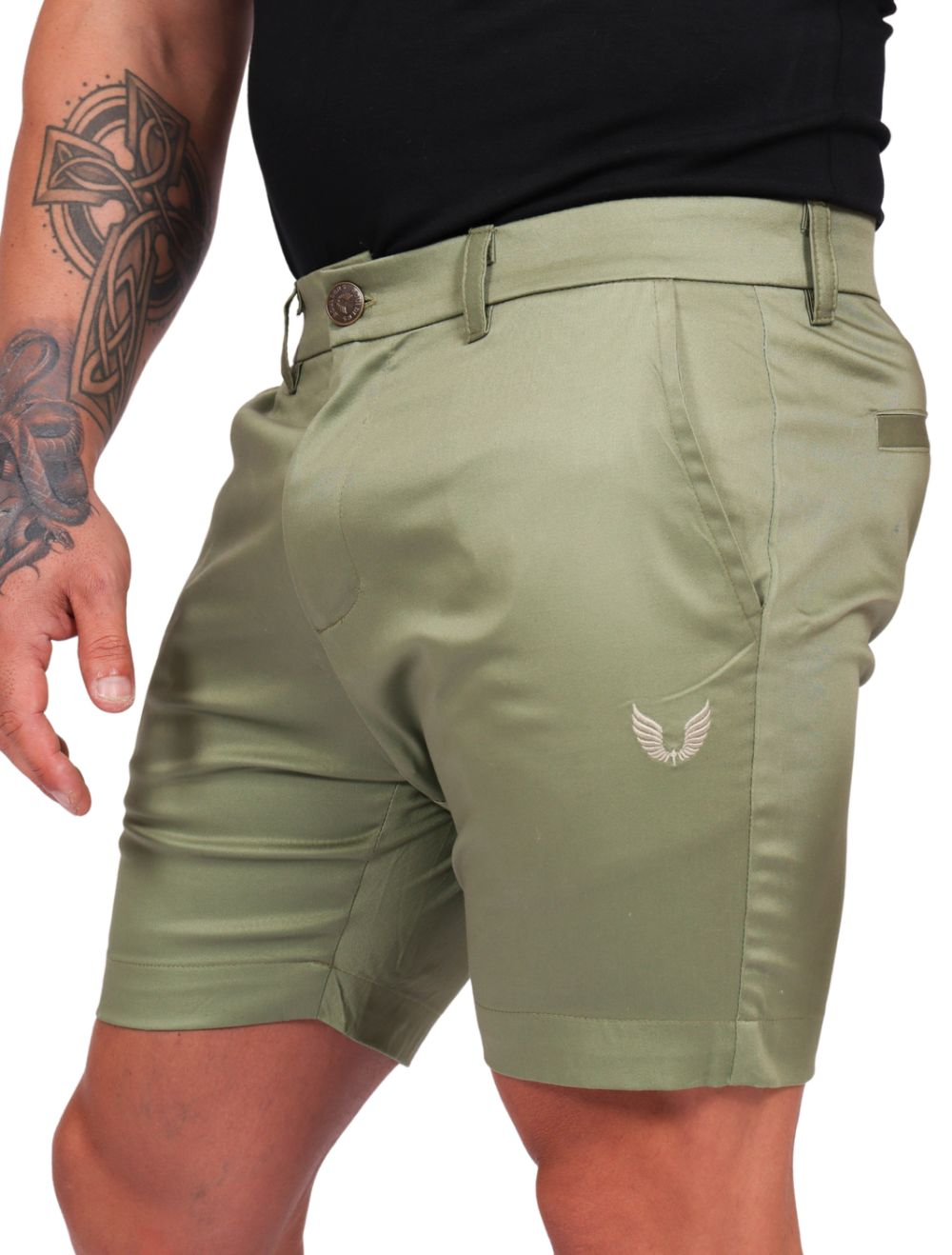 Bermuda Masculina Sarja Acetinada com Elastano Verde