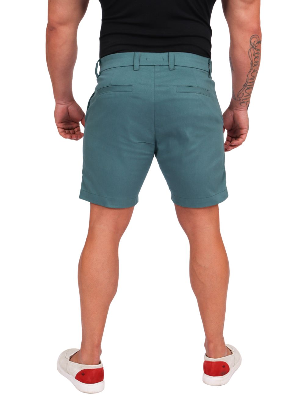 Bermuda Masculina Sarja com elastano Azul Petróleo