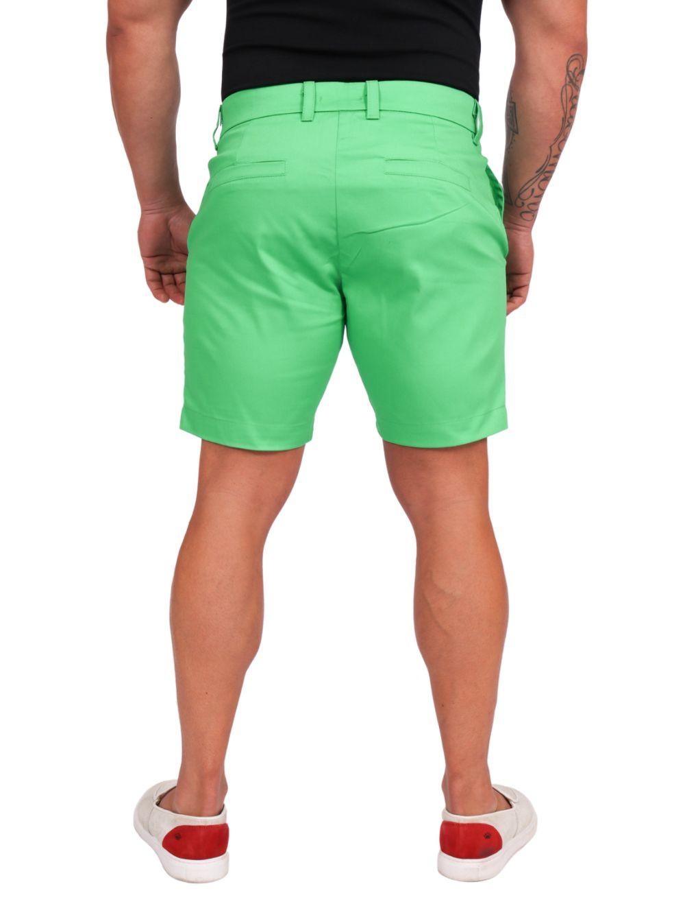 Bermuda Masculina Sarja com elastano Verde Claro