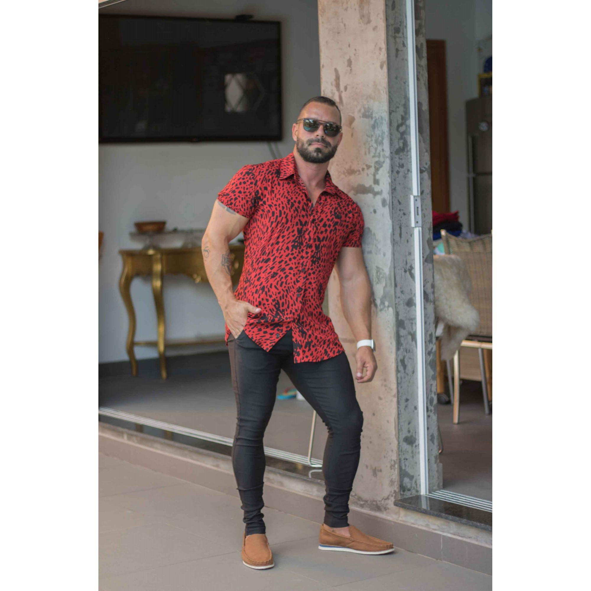 Calça Masculina Super Skinny em Bengaline Power Elastano