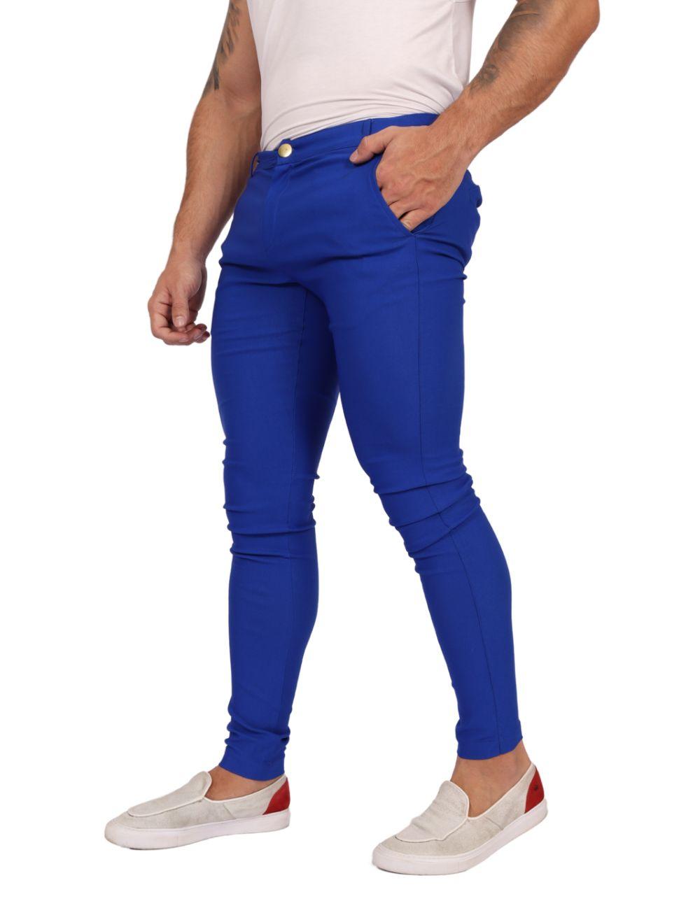 Calça Bengaline Azul Royal Ultra Skinny