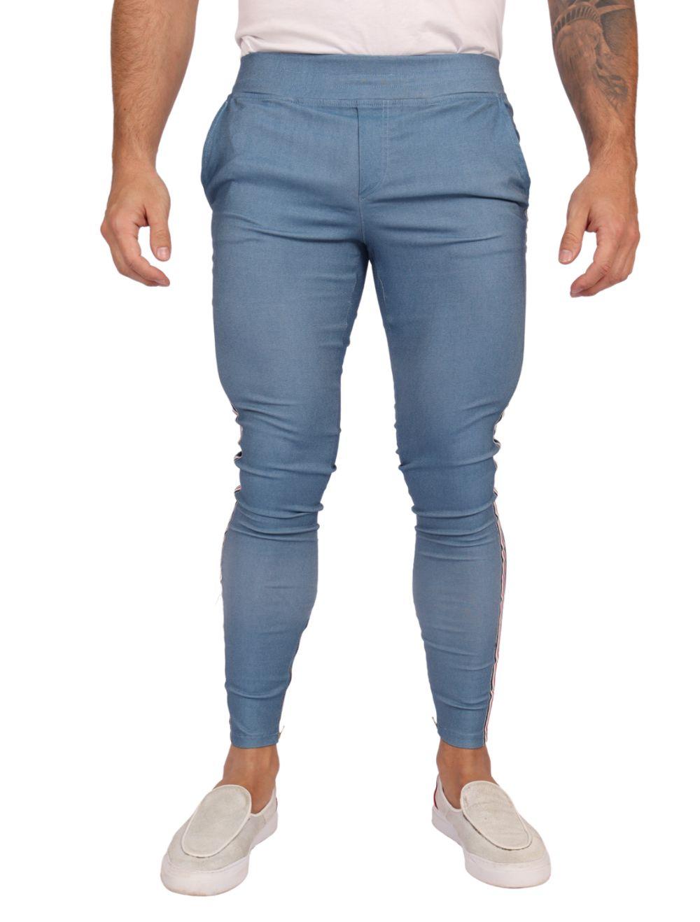 Calça Masculina Super Skinny Azul