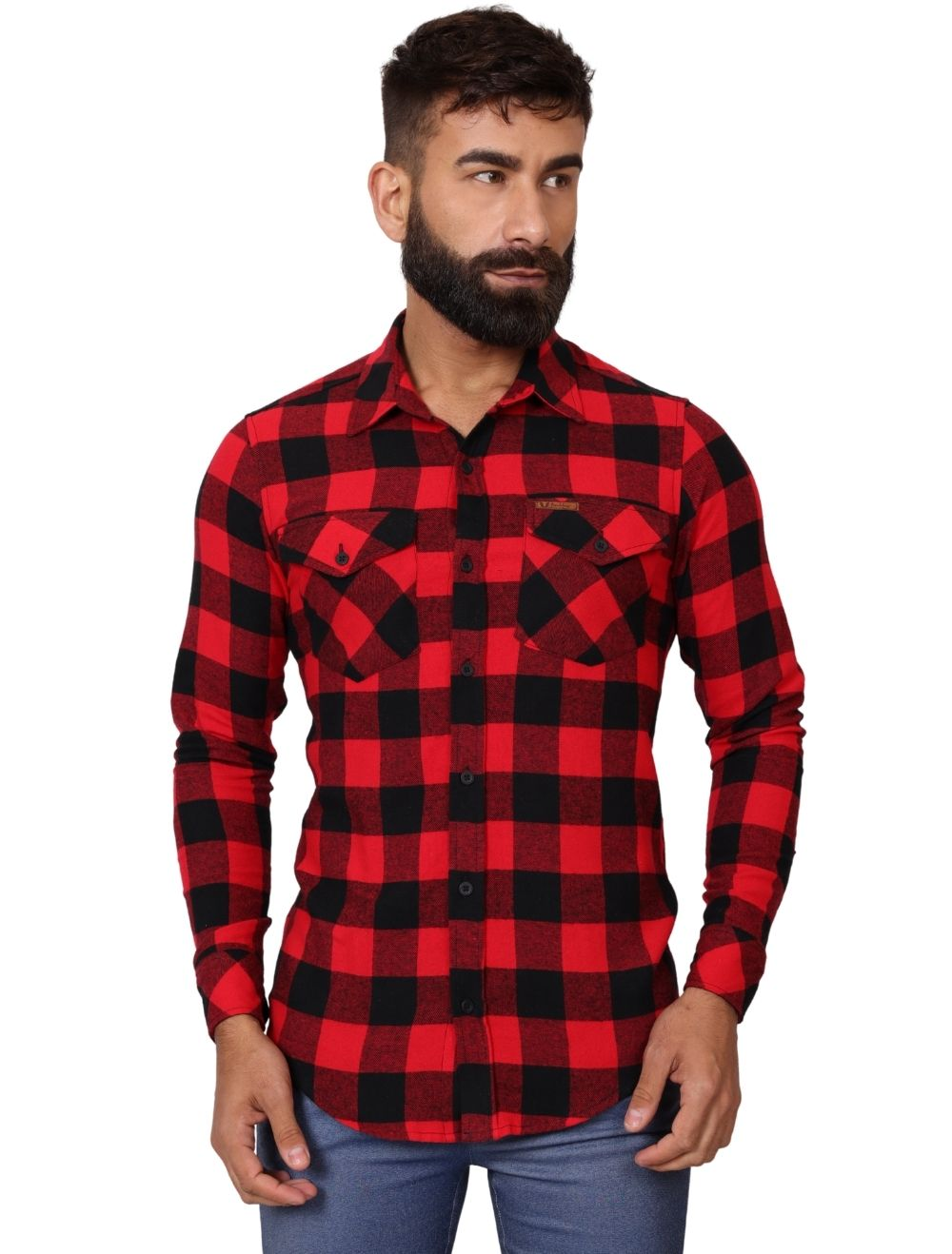 Camisa Flanela  Xadrez Masculina Slim Manga Longa