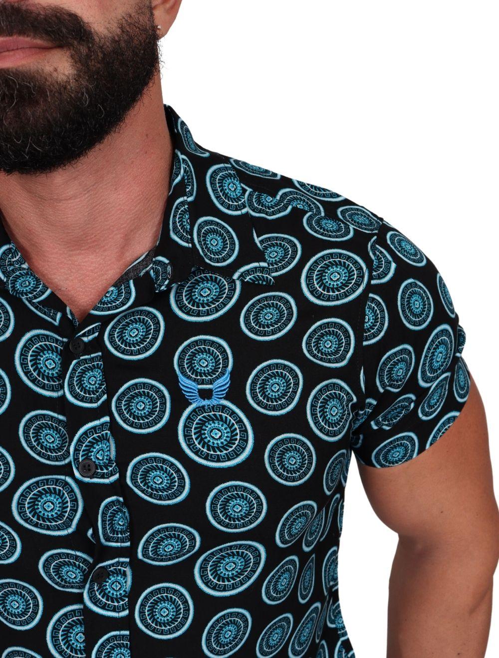 Camisa Masculina Manga Curta Viscose