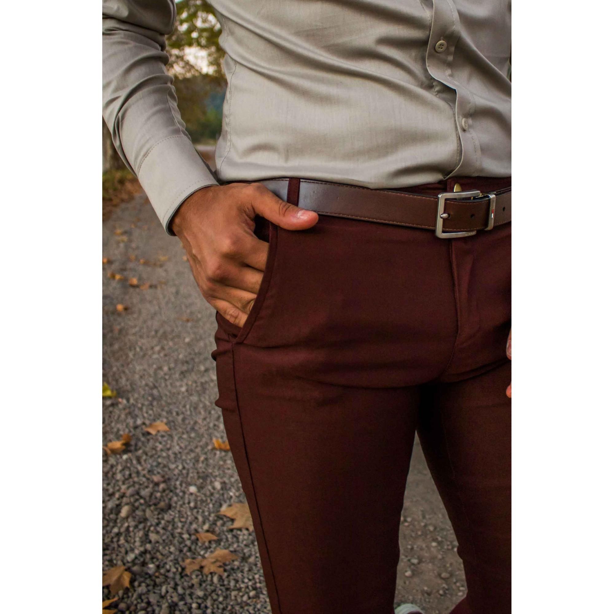 Camisa Masculina Slim Manga Longa com Elastano Cinza