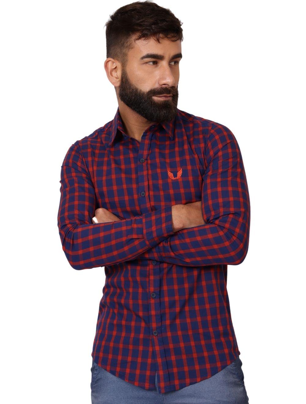 Camisa Xadrez Masculina Slim Manga Longa