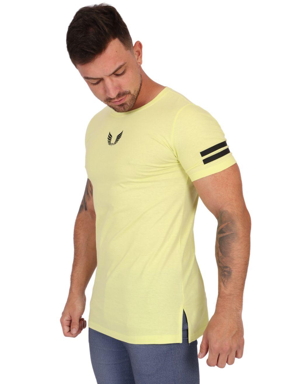Camiseta Long Amarela