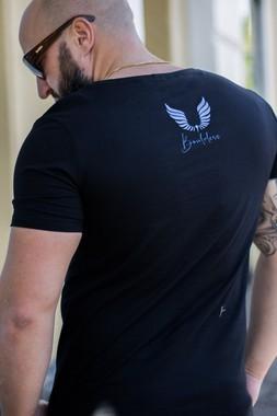 Camiseta Masculina Estampada Longline Sim Censored Preta