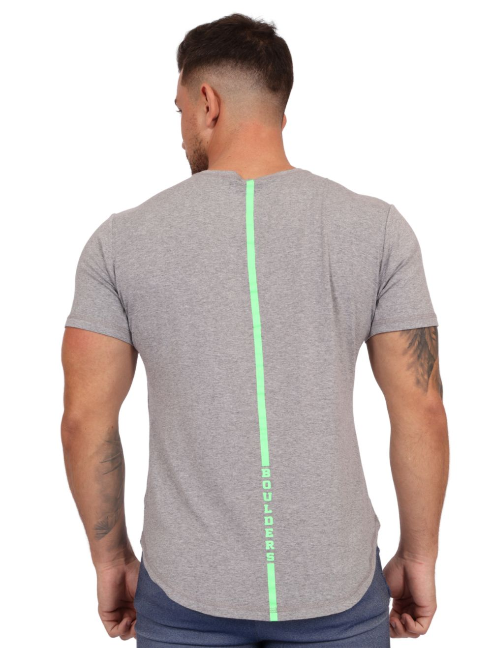 Camiseta Masculina Longline com Elastano Mescla Fit