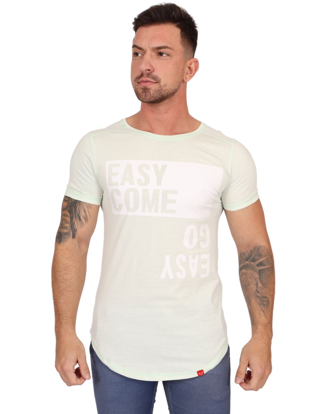 Camiseta Masculina Manga Curta EasyCome EasyGo Verde