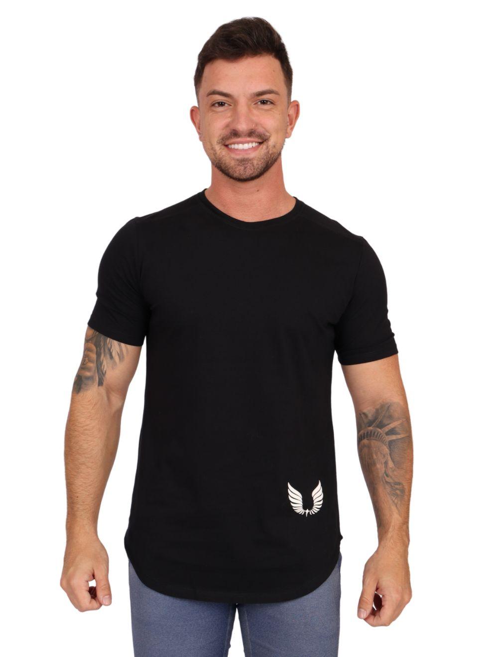 Camiseta Masculina Manga Curta Estampada Seven