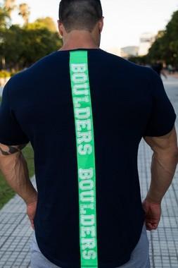 Camiseta Masculina Longline Manga Curta Azul Marinho LoseWey