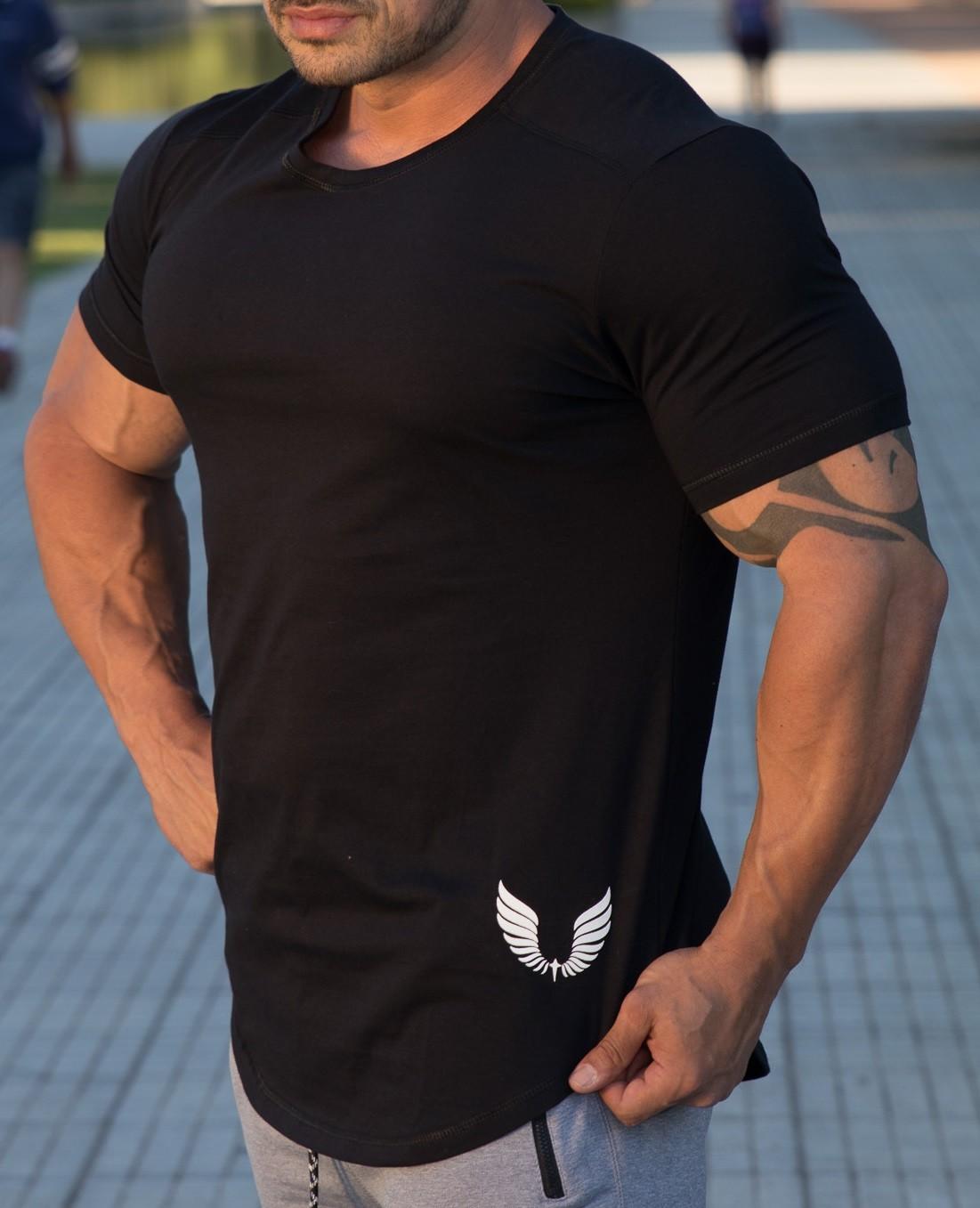 Camiseta Masculina Estampada Longline Manga Curta