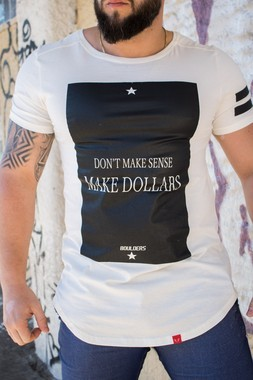 Camiseta Masculina Estampada Longline Fit Off Make dollars
