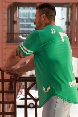 Camiseta Masculina Estampada Longline Seven Green