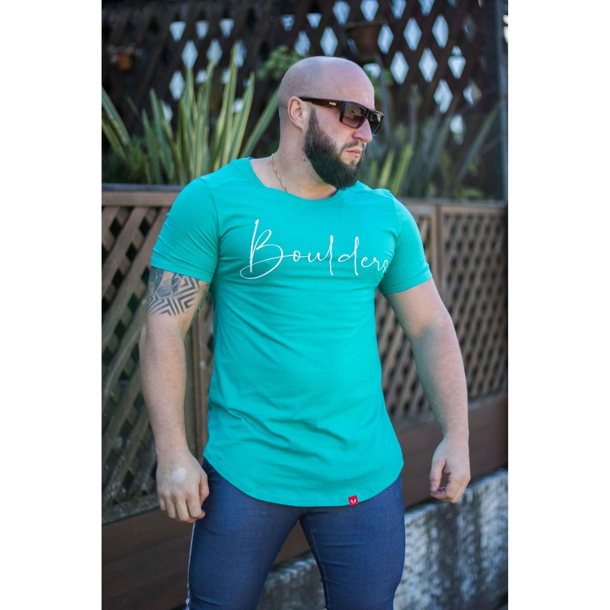 Camiseta Masculina Estampada Longline Slim Assinatura