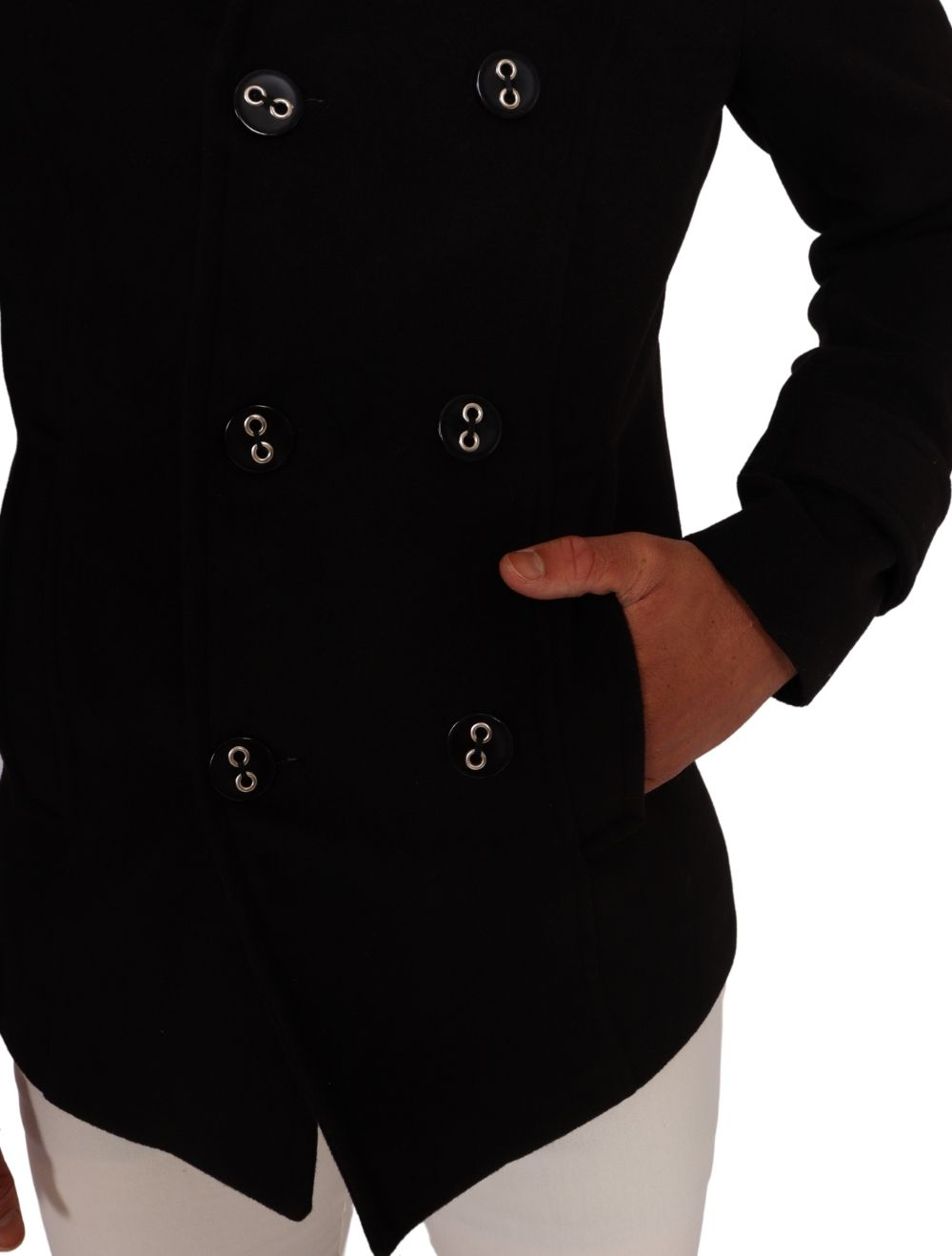 Casaco de Lã Preto Masculino