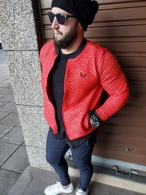 Jaqueta Bomber Masculina Matelassê Vermelha