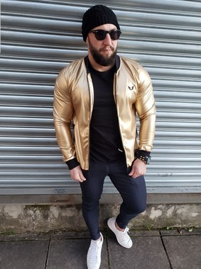 Jaqueta Bomber Dourada Courino