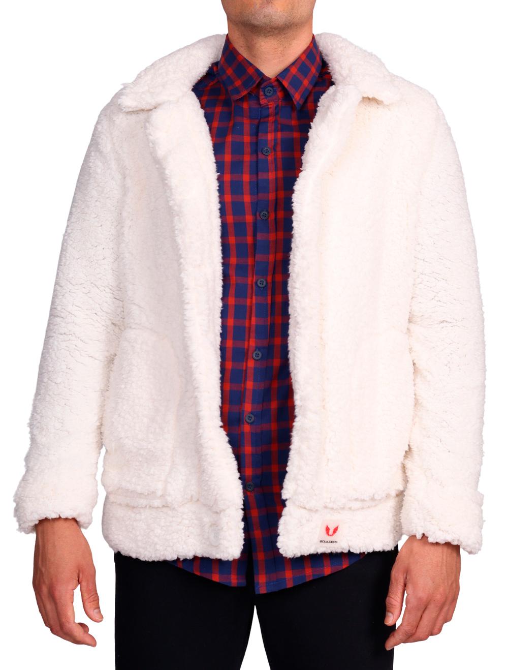 Jaqueta Pelego Masculina Off White