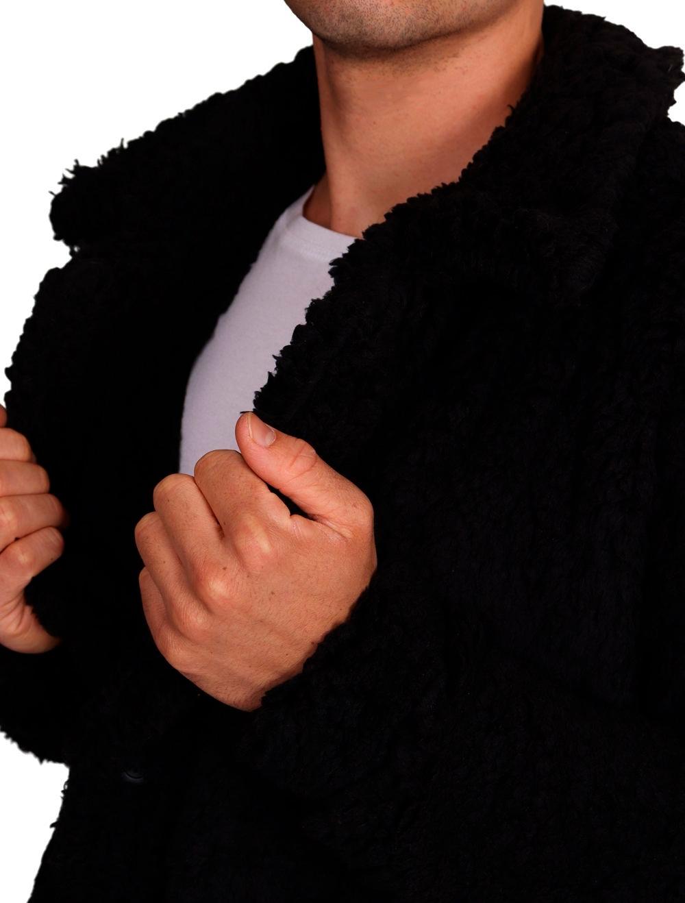 Jaqueta Pelego Masculina Preta