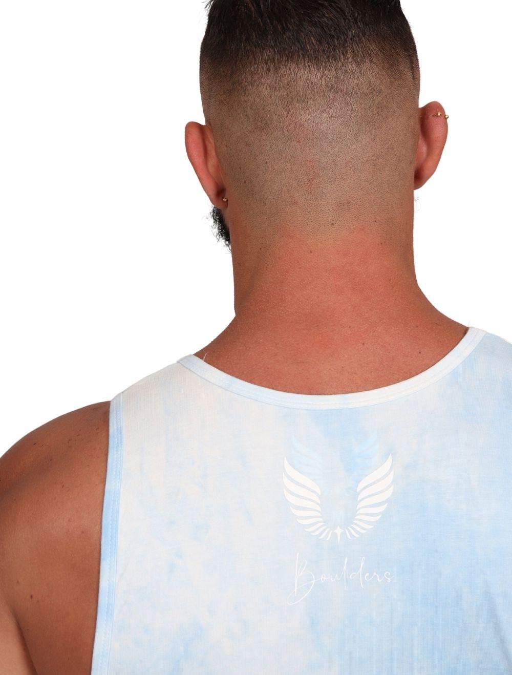 Regata Masculina Slim Com Elastano Tie Dye Azul