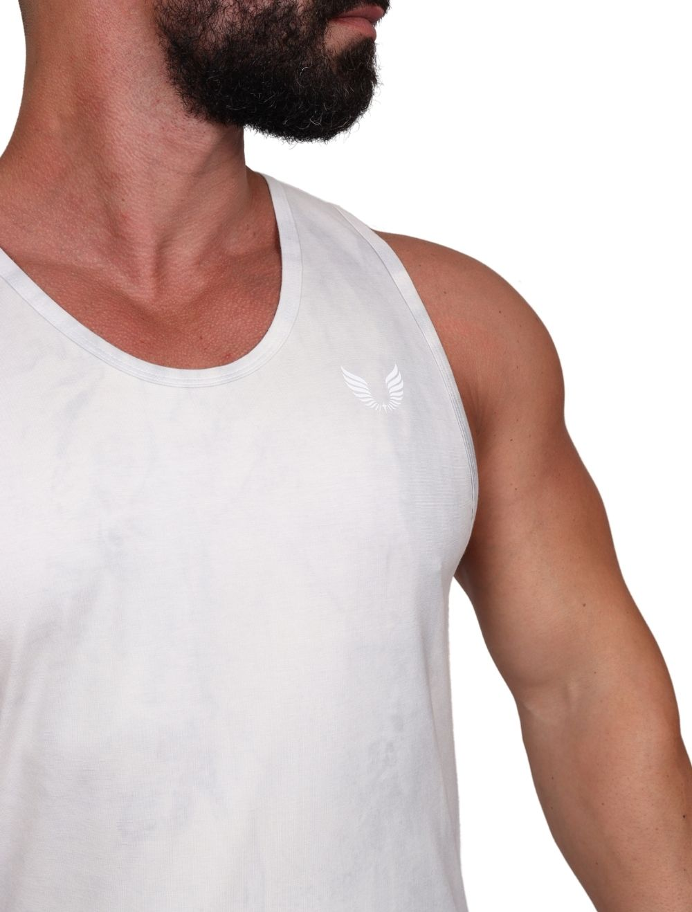 Regata Masculina Slim Com Elastano Tie Dye Preto